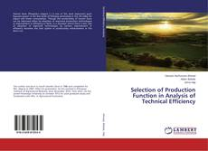 Bookcover of Selection of Production Function in Analysis of Technical Efficiency