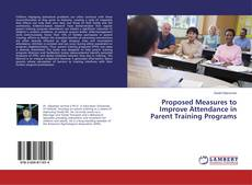 Portada del libro de Proposed Measures to Improve Attendance in Parent Training Programs