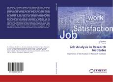 Couverture de Job Analysis in Research Institutes