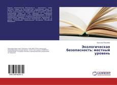 Экологическая безопасность: местный уровень kitap kapağı