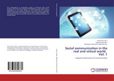 Couverture de Social communication in the real and virtual world, Vol. 1
