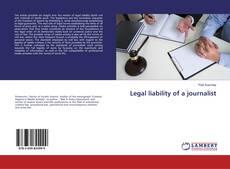 Portada del libro de Legal liability of a journalist
