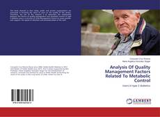 Bookcover of Analysis Of Quality Management Factors Related To Metabolic Control