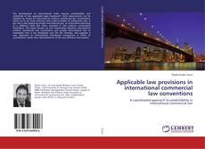 Applicable law provisions in international commercial law conventions kitap kapağı