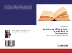 Bookcover of Significance of Rural Non-Farm Activity in Development