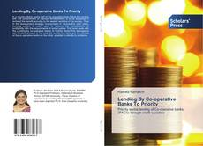 Buchcover von Lending By Co-operative Banks To Priority