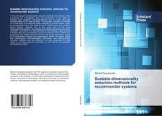 Buchcover von Scalable dimensionality reduction methods for recommender systems