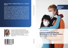 Bookcover of Clinical study on Allergic Rhinits w.s.r. to Nasya Karma