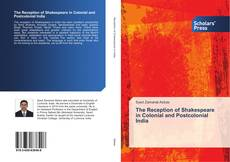 Portada del libro de The Reception of Shakespeare in Colonial and Postcolonial India