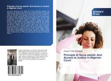 Couverture de Principle of locus standi: And Access to Justice in Nigerian Court