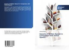 Couverture de Impacts of Written Speech in Comparison with Verbal Speech