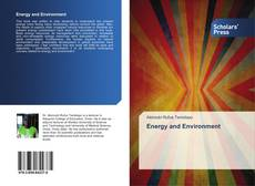 Bookcover of Energy and Environment
