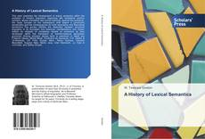 Bookcover of A History of Lexical Semantics