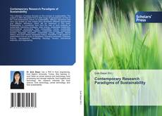 Bookcover of Contemporary Research Paradigms of Sustainability
