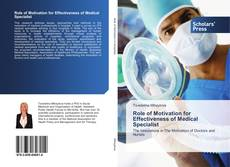 Portada del libro de Role of Motivation for Effectiveness of Medical Specialist