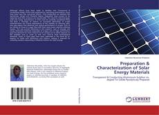 Couverture de Preparation & Characterization of Solar Energy Materials