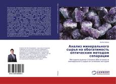 Buchcover von Анализ минерального сырья на обогатимость оптическим методом сепарации