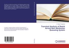 Bookcover of Transient Analysis of Batch Arrival Non Markovian Queueing System