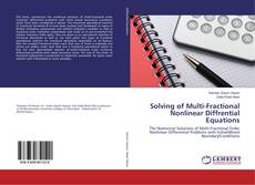 Buchcover von Solving of Multi-Fractional Nonlinear Diffrential Equations