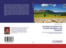 Academic Freedom for Faculty Members and Students kitap kapağı