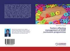 Portada del libro de Factors affecting management of ECDE curriculum programmes