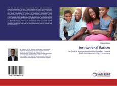 Bookcover of Institutional Racism