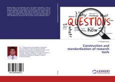 Portada del libro de Construction and standardization of research tools