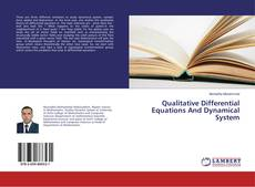 Bookcover of Qualitative Differential Equations And Dynamical System