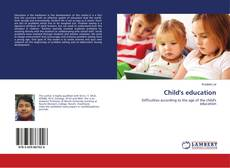 Bookcover of Child's education