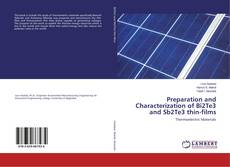 Capa do livro de Preparation and Characterization of Bi2Te3 and Sb2Te3 thin-films
