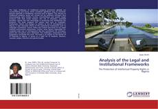 Copertina di Analysis of the Legal and Institutional Frameworks