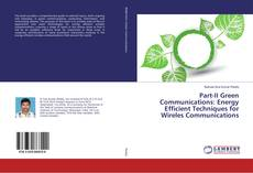 Capa do livro de Part-II Green Communications: Energy Efficient Techniques for Wireless Communications