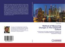 Portada del libro de Method of Measuring Changes in The Corporate Culture