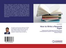 Bookcover of How to Write a Research Paper