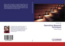 Обложка Operations Research Techniques