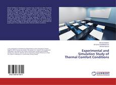 Experimental and Simulation Study of Thermal Comfort Conditions kitap kapağı