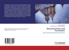 Bookcover of Deconstruction and Translation