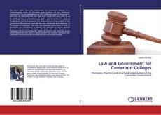 Capa do livro de Law and Government for Cameroon Colleges