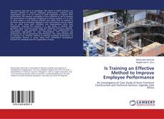 Bookcover of Is Training an Effective Method to Improve Employee Performance