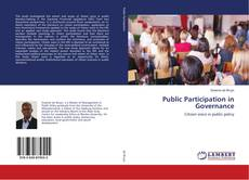 Buchcover von Public Participation in Governance
