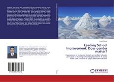 Bookcover of Leading School Improvement: Does gender matter?