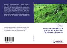 Analytical methods for Pesticide Technical and Formulation Products kitap kapağı
