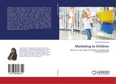Bookcover of Marketing to Children