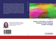 Portada del libro de Policy to Practice. A critical analysis of the Valuing People strategy