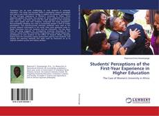 Students' Perceptions of the First-Year Experience in Higher Education kitap kapağı