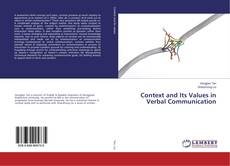 Copertina di Context and Its Values in Verbal Communication