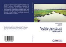 Copertina di Population dynamics and nutrient cycling of Pistia stratiotes L