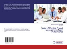 Bookcover of Factors Affecting Project Management Team Performance