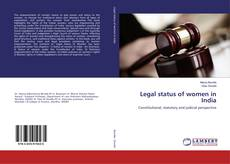 Bookcover of Legal status of women in India