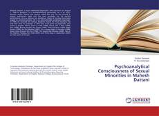 Portada del libro de Psychoanalytical Consciousness of Sexual Minorities in Mahesh Dattani